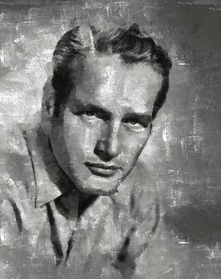 Celebrities Royalty-Free and Rights-Managed Images - Paul Newman by Esoterica Art Agency