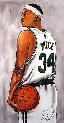 Paul Pierce Painting - Paul Pierce - The Truth by Dave Olsen