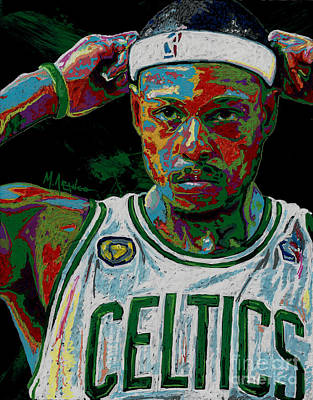 Paul Pierce Art Print by Maria Arango