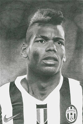 Paul Pogba Art Print by James Wing