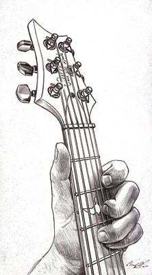 Mindful Drawing - Paul Reed Smith In B Minor by Chad Glass