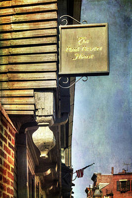Photograph - Paul Revere House - Boston by Joann Vitali