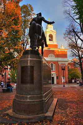 Photograph - Paul Revere Mall - North End - Boston by Joann Vitali