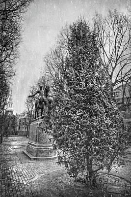 Photograph - Paul Revere Square - Boston North End by Joann Vitali