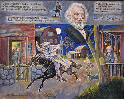 Paul Reveres Midnight Ride Original by Jan Mecklenburg