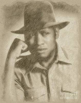 Fantasy Drawings - Paul Robeson, Actor and Singer by Frank Falcon