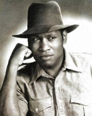 Musician Royalty-Free and Rights-Managed Images - Paul Robeson, Vintage Actor and Singer by Esoterica Art Agency