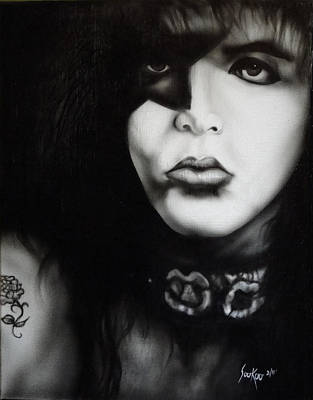 Painting - Paul Stanley From Kiss by Stephen Sookoo