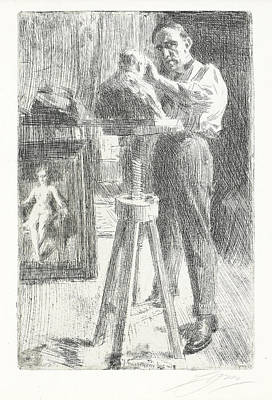 Drawing - Paul Troubetzkoy I by Anders Zorn