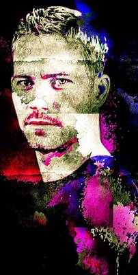 Mixed Media - Paul Walker by Svelby Art