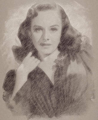 Celebrities Royalty-Free and Rights-Managed Images - Paulette Goddard by Esoterica Art Agency
