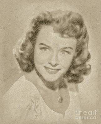 Paulette Goddard Vintage Hollywood Actress Art Print by Frank Falcon
