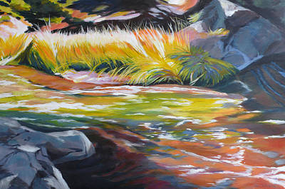 Painting - Paulina Creek by Melody Cleary