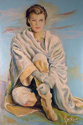 Painting - Paulina Porizkova by Jean-Marc Robert