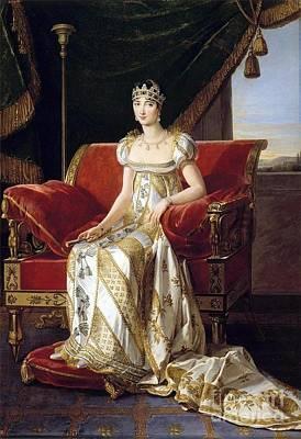 White Painting - Pauline Bonaparte by MotionAge Designs