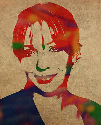 Sheep Mixed Media - Pauline Lamb From Doc Martin Katherine Parkinson Watercolor Portrait by Design Turnpike