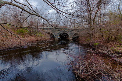 Photograph - Pauls Bridge Milton Massachusetts by Brian MacLean