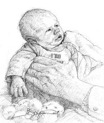 Whitman Drawing - Paul's Great Grandchild by John D Benson