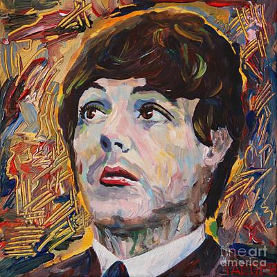 New York City. John Lennon Portrait Painting - Pauls Vision by Robert Yaeger