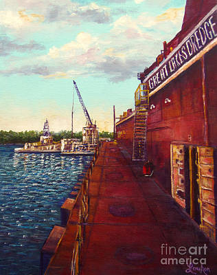 Painting - Pauls Work Place by Lou Ann Bagnall