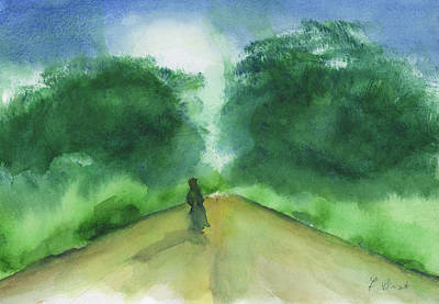 Painting - Pause In The Road by Frank Bright