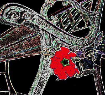 Decorative Benches Digital Art - Pause To Contemplate 1 by Will Borden