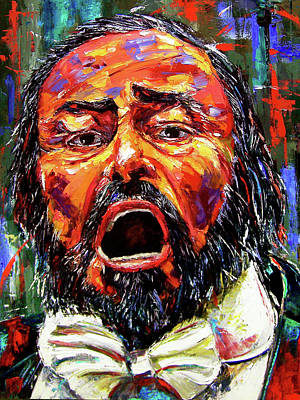 Wall Art - Painting - Pavarotti by Debra Hurd
