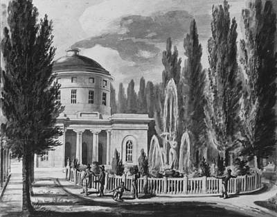 Airport Maps - Pavel Petrovich Svinin 1787-1839, General Washingtons Tomb at Mount Vernon Copy after Engraving  by Artistic Panda
