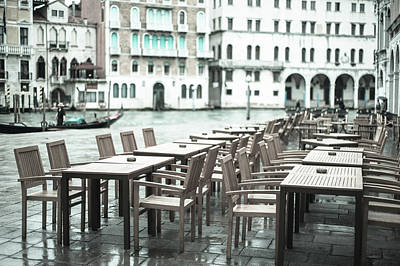 Photograph - Pavement Cafe Venice by Jean Gill