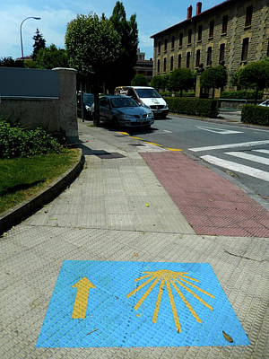Photograph - Pavement Marking by Mike Shaw