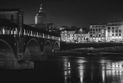 Pavia At Night Art Print