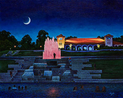 Painting - Pavilion Fountains by Michael Frank