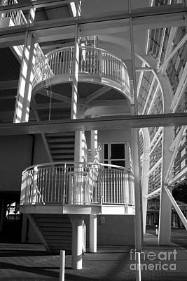 Pavilion Stairs At The Ageas Rose Bowl Art Print by Terri Waters