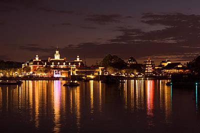 Disney Photograph - Pavilions Reflections 2 by Zina Stromberg