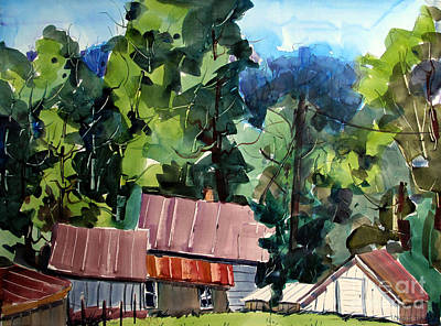 Indiana Landscapes Painting - Paw Paw Pike Pastoral by Charlie Spear