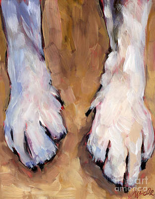 Painting - Paw Study  by Molly Poole