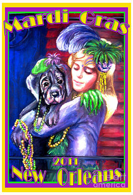 Pawdi Gras Art Print