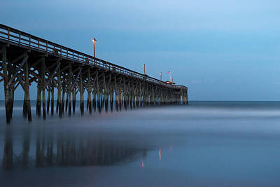 Sky Blue Photograph - Pawleys Island Pier During The Blue Hour by Ivo Kerssemakers