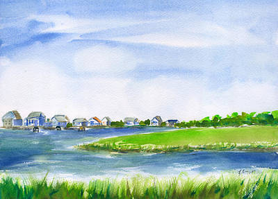 Painting - Pawleys Island South Causeway by Frank Bright
