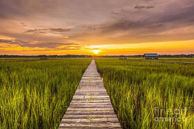 Pawleys Island Sunset Art Print by Matthew Trudeau