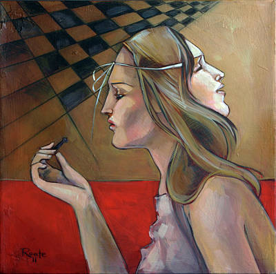 Chess Painting - Pawn by Jacque Hudson