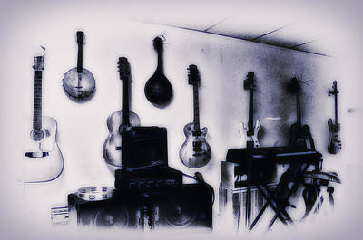 Music Photograph - Pawn Shop Guitars by Bill Cannon