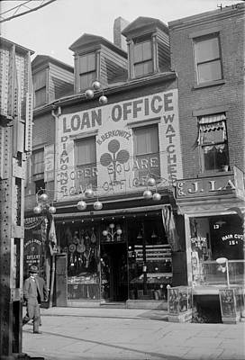 1920s Candid Photograph - Pawn Shop, Photograph, 1900s-1930s by Everett