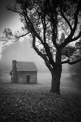 Photograph - Paw's Cabin-bw by Joye Ardyn Durham
