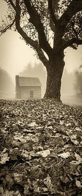 Photograph - Paw's Cabin - Pano-sepia by Joye Ardyn Durham