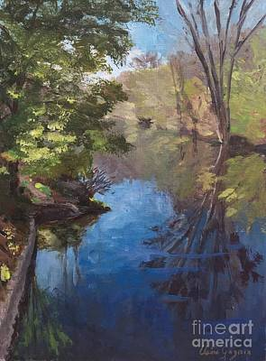 Painting - Pawtucket Canal by Claire Gagnon