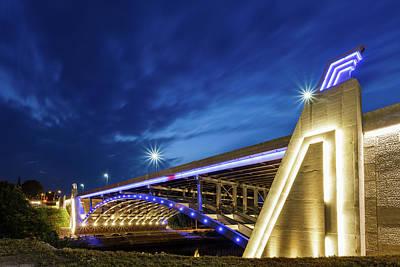 Seekonk River Bridge Art Print by Bryan Bzdula