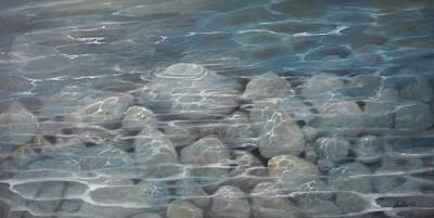 Painting - Paxos Pebbles by Caroline Philp