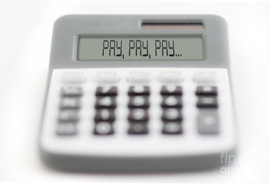 Accountancy Photograph - pay by Michal Boubin
