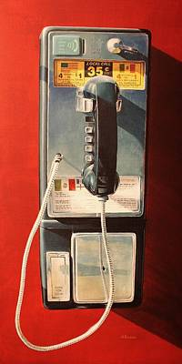 Payphone Painting - Pay Phone, San Diego by Henry Balzer